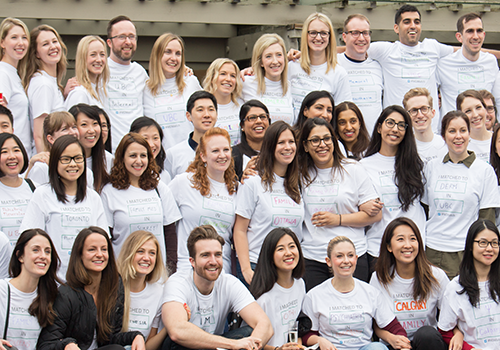 On Wednesday, UBC fourth-year MD students gathered to celebrate the results from the first round of the Canadian Resident Matching Service (CaRMS), which matches MD graduates with postgraduate training programs nationwide.