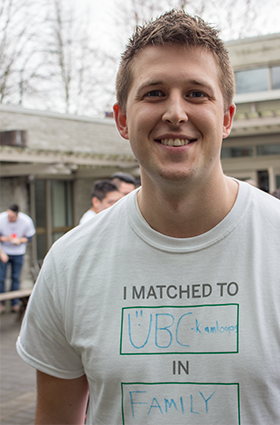 UBC MD student Patrick McCaffery will join UBC's two-year Family Medicine Residency Program this summer.