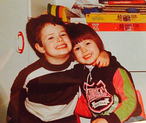 Ben and Alexandra Sheppard as young kids, growing up in North Vancouver.