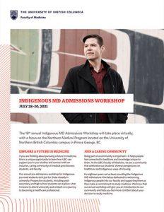 Indigenous MD Admissions Workshop cover