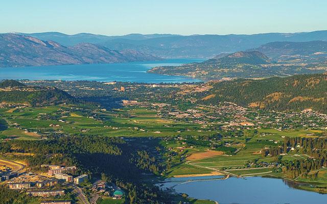 Aerial view of Kelowna