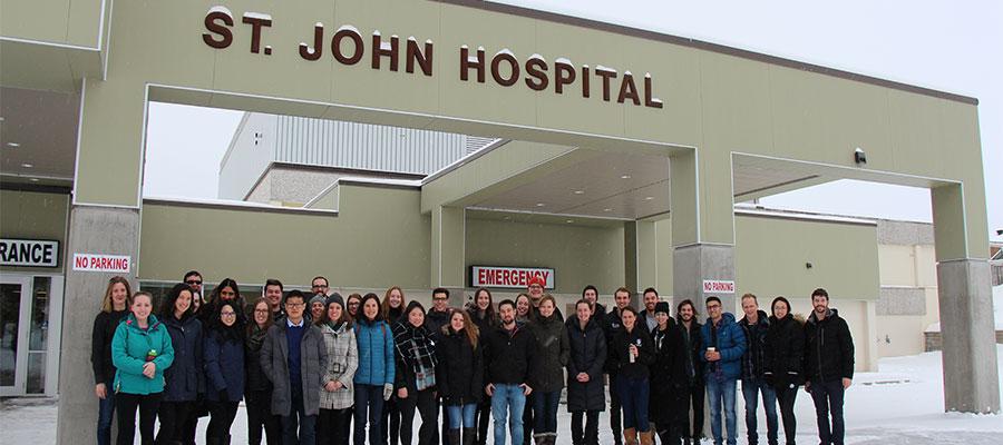 NMP Class of 2022 visiting St. John Hospital in Vanderhoof, B.C.
